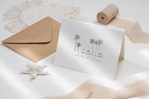 Secluded Beach Folded Note Card Set