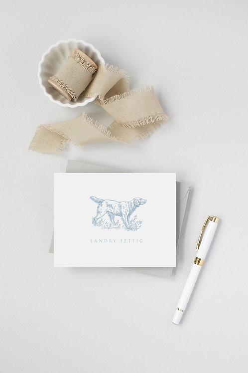 Bird Dog Folded Note Cards