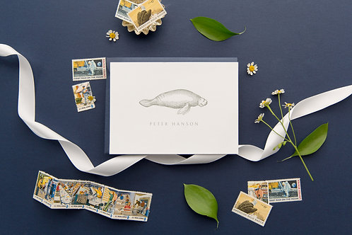 Sea Cow Post Folded Note Cards