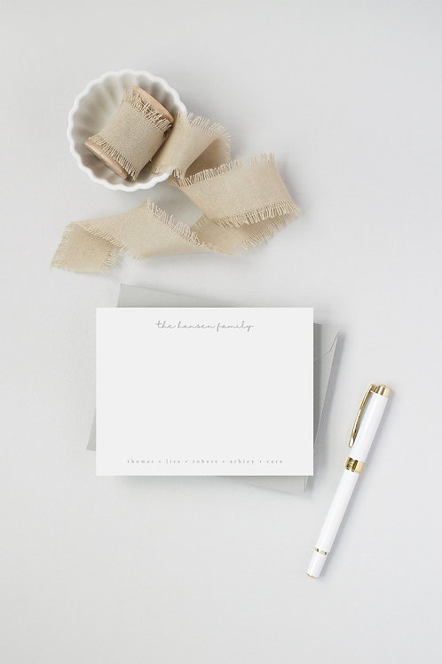 Hansen Flat Note Card Set