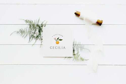 Citrus Branch Enclosure Cards
