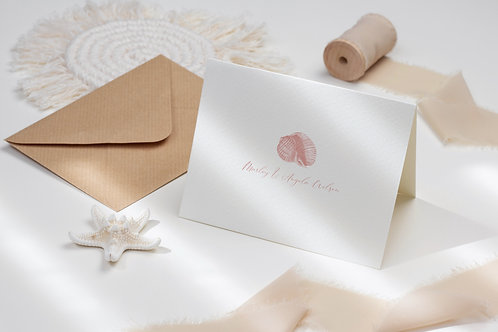 Honeymoon Shellabration Folded Note Card Set