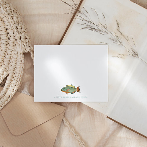 Snorkeling in Guanacaste Flat Note Card Set - Tropical Fish Station