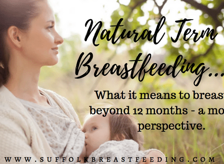 So you're STILL breastfeeding? A mother's perspective on natural term breastfeeding