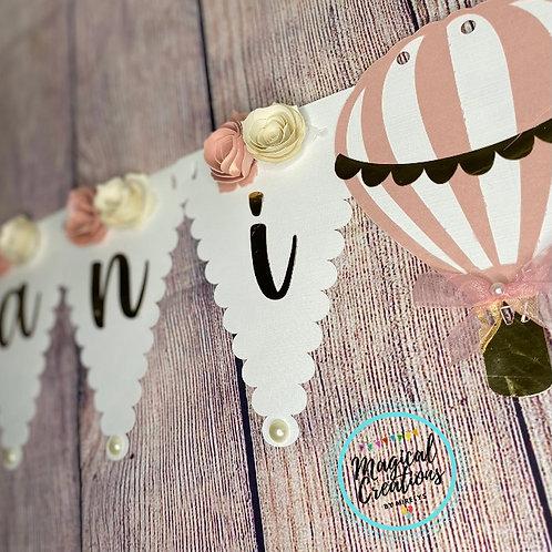 Air Balloon Baby Shower Banner