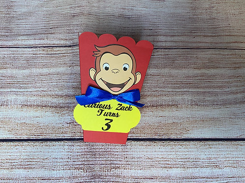 Curious George Popcorn/Treat box (Pack of 8)