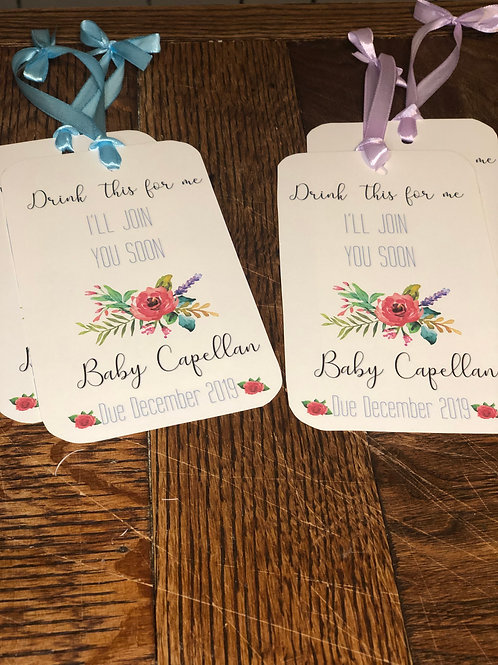 Baby Announcement Tags