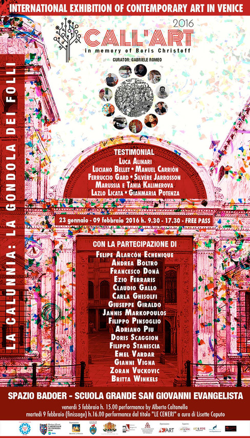LOCANDINA CALL'ART 2016 VENICE