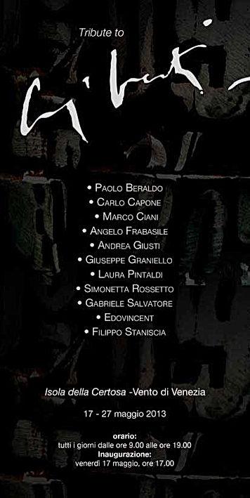 Filipp Staniscia Tribute to Giorgio Celiberti