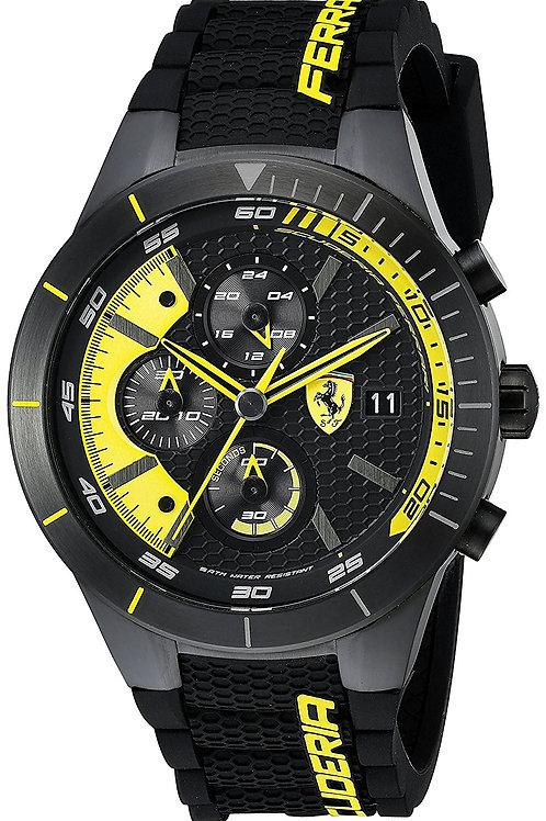 Ferrari Men's REDREV EVO Analog Display Japanese Quartz Black Watch 0830261