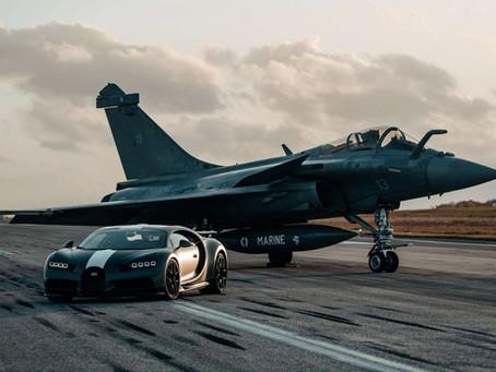 Bugatti Chiron Sport VS. a Fighter Jet, High Speed Race!