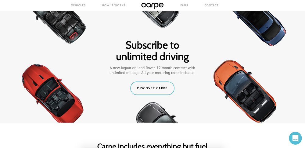 Carpe Jaguar Car Subscription