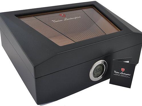 Lamborghini Humidor - Holds 75 Cigars - Digital Hygrometer