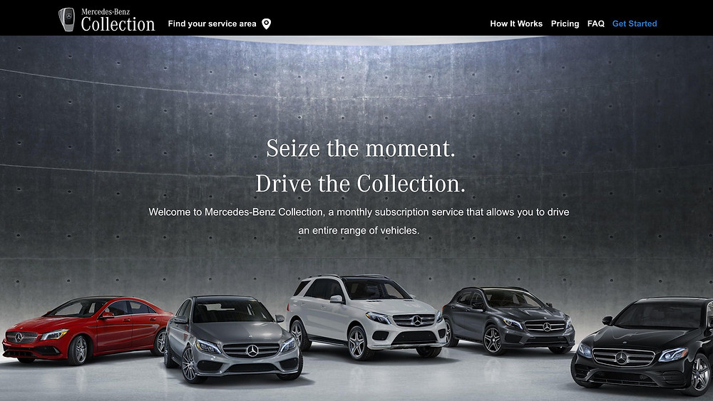 Mercedes Benz Collection Car Subscription