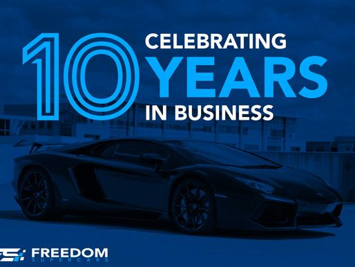 FREEDOM SUPERCARS CELEBRATES 10 YEARS