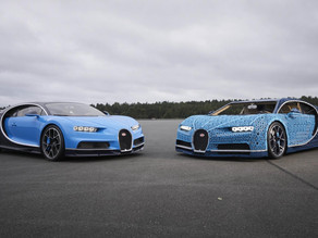 THIS FULL SIZE BUGATTI CHIRON IS MADE OF LEGOS!
