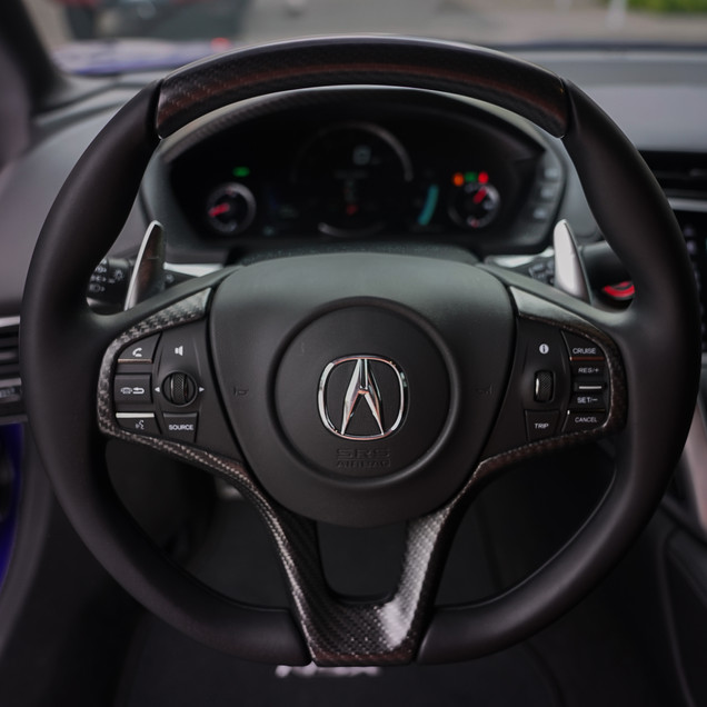 Blue Acura NSX Interior