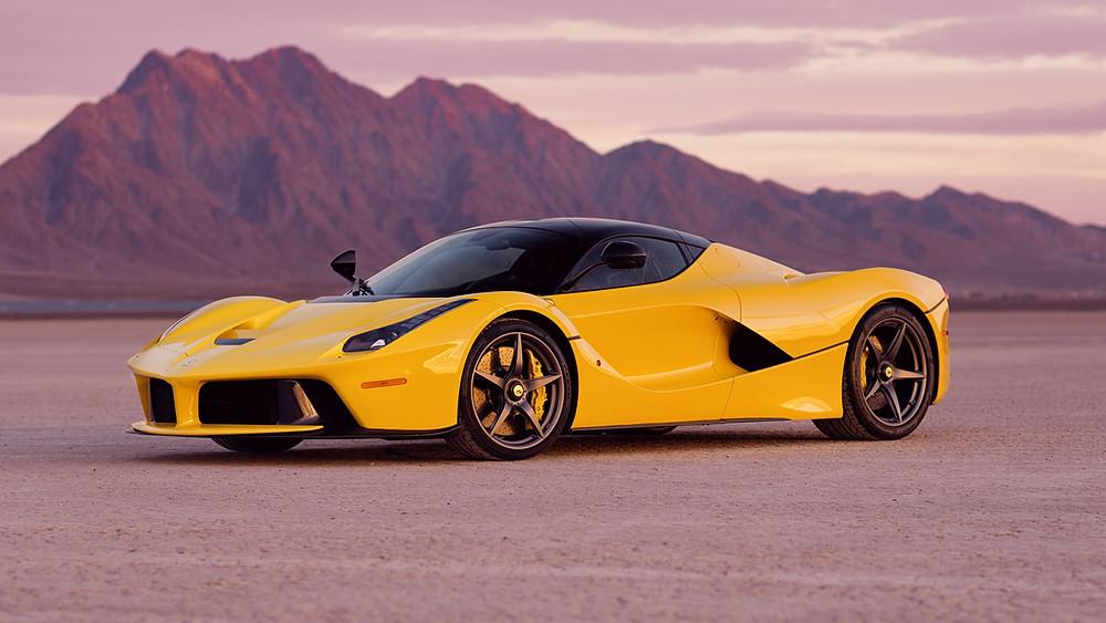 Yellow Ferrari LaFerrari