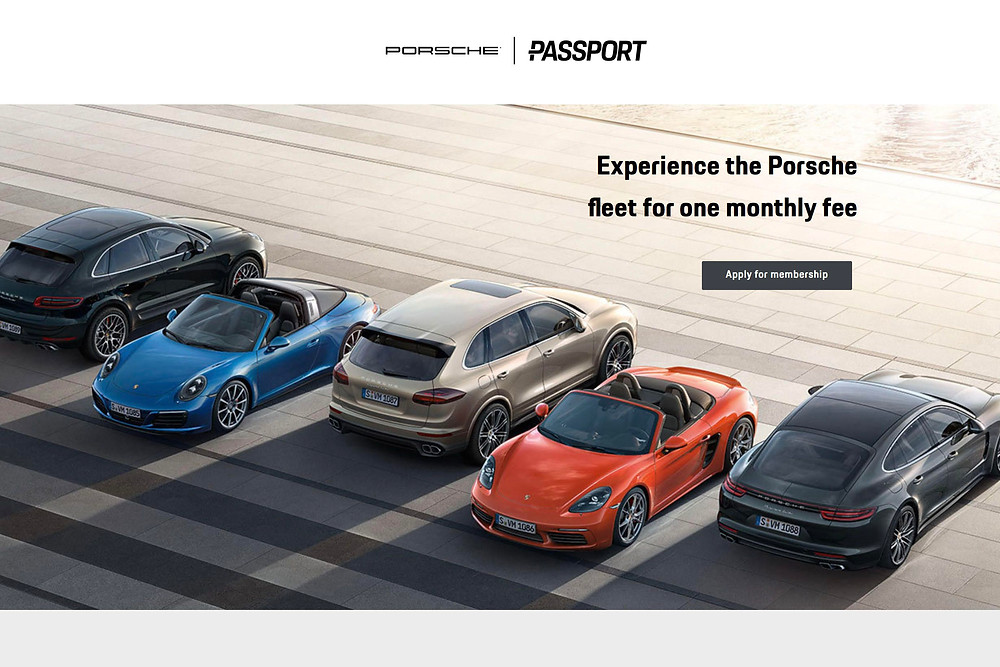 Porsche Passport Car Subscription
