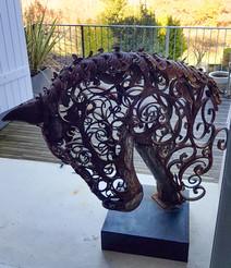 Sculpture fer et volutes