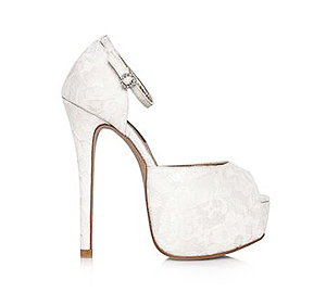 JJ經典蕾絲婚鞋・GS150228