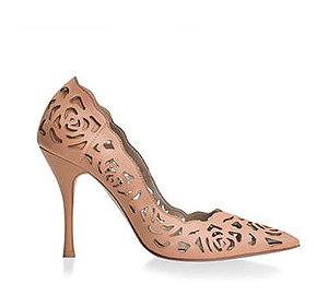 Rosie 鏤空薔薇皮革宴會鞋・RS160425(Camel)