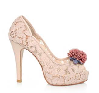 Celine春色花語蕾絲鞋・RS160401(Pink)
