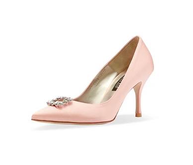 Frida 真絲施華洛世奇方鑽高跟鞋・RS190801(Pink)