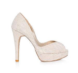 VI蕾絲高跟婚鞋・GS160103(Beige)