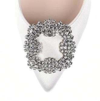 馬諾洛鑲鑽綢緞鞋飾・IA141120(Silver)