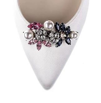 時尚彩色花束鑽飾・IA171222(Sliver)