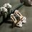 Thumbnail: 立體多彩仿珠花飾・IA170120(Beige)