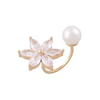 ★秀智款★ Heliconia Pearl Ring・TP02101