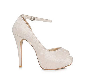 JJ經典蕾絲婚鞋・GS160120