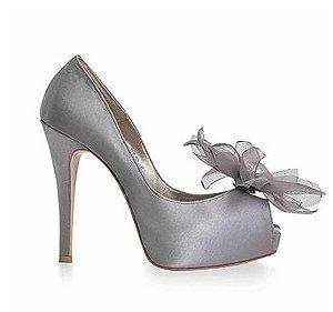 Daisy春瀾漫雪紡花朵宴會鞋・RS160322(Gray)