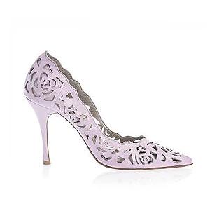 Rosie 鏤空薔薇皮革宴會鞋・RS160425(Pink)