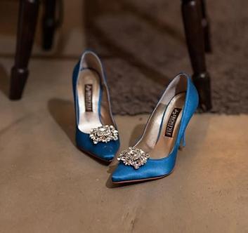 POPI時尚藍尖頭高跟鞋・GS130512
