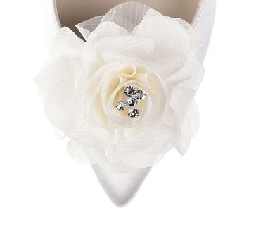 魅力雪紡玫瑰花飾・IA171215 (Ivory)