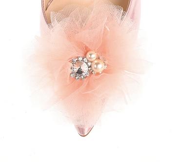 可愛雪紡花飾・IA170107 (Pink)