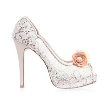 Celine春色花語蕾絲鞋・RS160401(Ivory)
