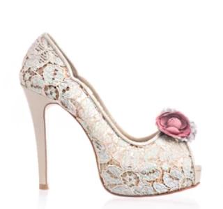 Celine春色花語蕾絲鞋・RS160401(Mint)