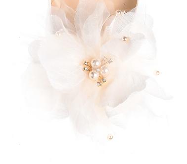 珍珠雪紡花飾・IA170118(Ivory)