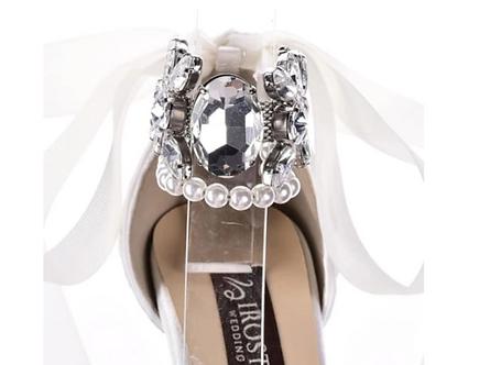 奢華珍珠鑽飾繞踝帶・IA150413(Silver)