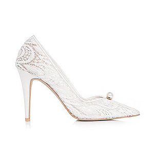 Audrey珍珠蕾絲宴會鞋・RS151220(Ivory)