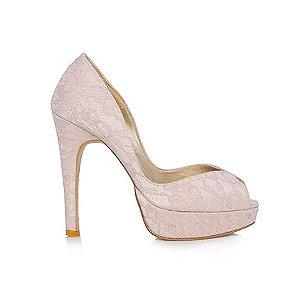 VI蕾絲高跟婚鞋・GS160103(Pink)