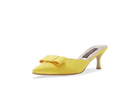 Shallot 緞面高級穆勒跟鞋・RS190715(Yellow)