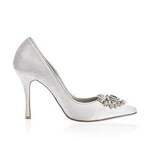 Angelina天鵝絨宴會鞋・RS161004(Ivory)