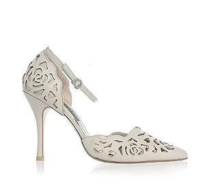 Rosie 鏤空薔薇皮革宴會鞋・RS160426(Beige)