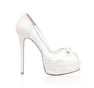 Nicole可愛蕾絲婚鞋・RS150128(Ivory)