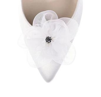 浪漫輕紗閃蕊花飾・IA171217 (Ivory)